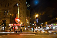 Hard Rock Cafe in downtown Philadelphia, Pennsylvania on Market Street.