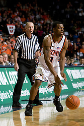 Virginia guard Jeff Jones (1) in action against Virginia Tech.  The Virginia Cavaliers men's basketball team faced the Virginia Tech Hokies at the John Paul Jones Arena in Charlottesville, VA on January 16, 2008.