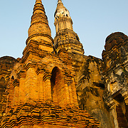 Wat Sa Si at sunrise in Sukhothai. The Sukhothai kingdom was an early Thai kingdom in north central Thailand. It existed from during the 13, 14, 15th centuries The.old capital is in ruins and is a Historical Park..View from Feb, 2007.