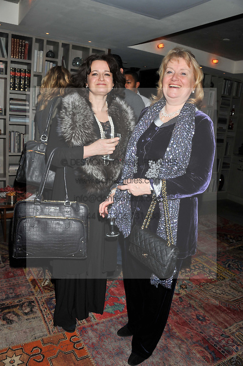 Left to right, MARIKA BRENNAN and the MARCHIONESS OF READING at the Beulah AW13 Showcase, Bungalow 8 LFW Pop-Up at Belgraves - A Thompson Hotel, 20 Chesham Place, London SW1 on 13th February 2013.