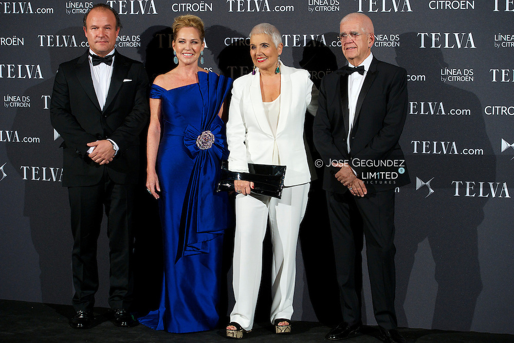 Ana Rodríguez, Ernesto Manrique, Rosa Tous and Salvador Tous attends Telva Awards 2012 at Hotel Palace on November 6, 2012 in Madrid, Spain