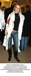 Model ALICA ROUNTREE at a party in London on 10th December 2003.PPL 103