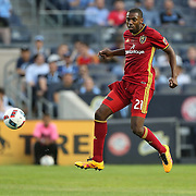 NEW YORK, NEW YORK - June 02: Aaron Maund #21 of Real Salt Lake in action during the NYCFC Vs Real Salt Lake regular season MLS game at Yankee Stadium on June 02, 2016 in New York City. (Photo by Tim Clayton/Corbis via Getty Images)