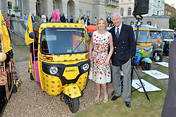 GALEN & HILARY WESTON at the Quintessentially Foundation and Elephant Family 's 'Travels to My Elephant' Royal Rickshaw Auction presented by Selfridges and hosted by HRH The Prince of Wales and The Duchess of Cornwall held at Lancaster House, Cleveland Row, St.James's, London on 30th June 2015.