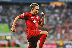 04.08.2015, Allianz Arena, Muenchen, GER, AUDI CUP, FC Bayern Muenchen vs AC Mailand, im Bild Freude bei Mario Goetze (FC Bayern Muenchen) nach seinem Tor zum 2:0 // during the 2015 AUDI Cup Match between FC Bayern Muenchen and AC Mailand at the Allianz Arena in Muenchen, Germany on 2015/08/04. EXPA Pictures © 2015, PhotoCredit: EXPA/ Eibner-Pressefoto/ Stuetzle<br /> <br /> *****ATTENTION - OUT of GER*****