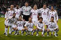 Fotball<br /> Champions League<br /> 31.10.2006<br /> PSV Eindhoven v Galatasaray<br /> Foto: Witters/Digitalsport<br /> NORWAY ONLY<br /> <br /> Mannschaftsbild Galatasaray, hi. v. li.: Hasan Sas, Rigobert Song, Torwart Farid Mondragon, Orhan Ak, Stjepan Tomas, Arda Turan, vorn: Ümit Karan, Sabri Sarioglu, Ayhan Akman, Junichi Inamoto und Sasa Ilic
