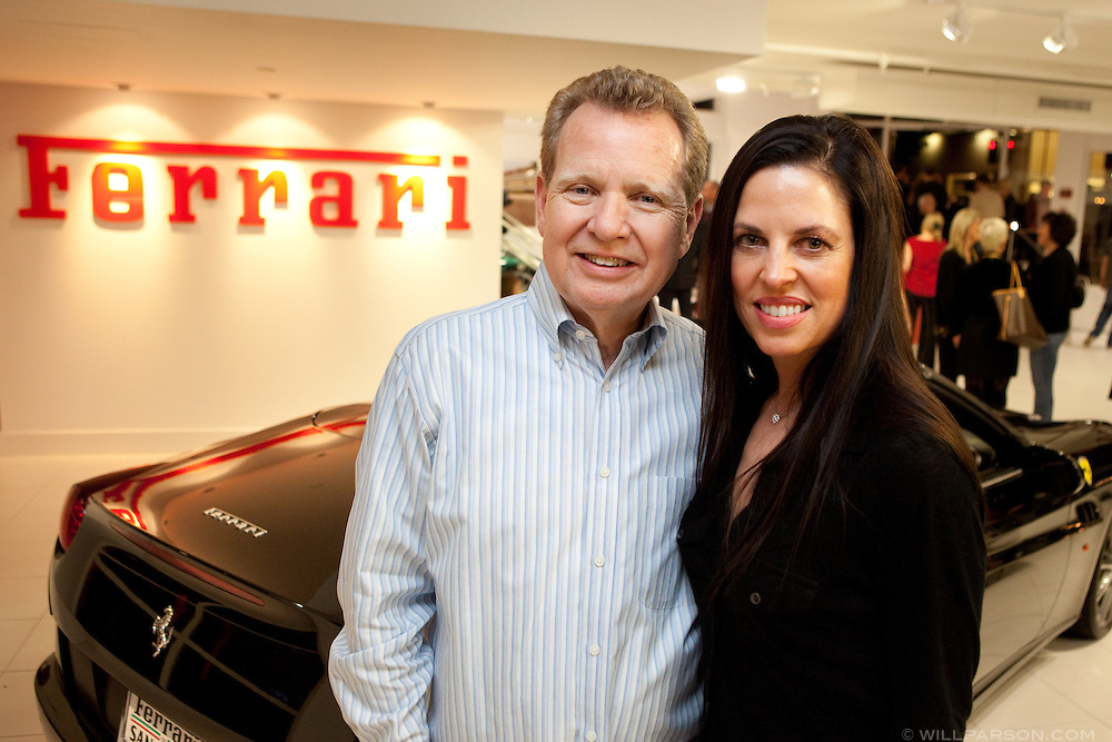 Gary Peterson, president of Ferrari Owner's Club, and Lori Baker from La Jolla.