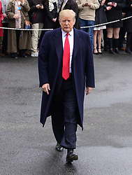 March 22, 2019 - Washington, District of Columbia, U.S. - United States President Donald J. Trump walks from supporters to take questions from the media as he departs the White House in Washington, DC for a weekend in Mar-a-Lago, Florida on Friday, March 22, 2019  (Credit Image: © Ron Sachs/CNP via ZUMA Wire)