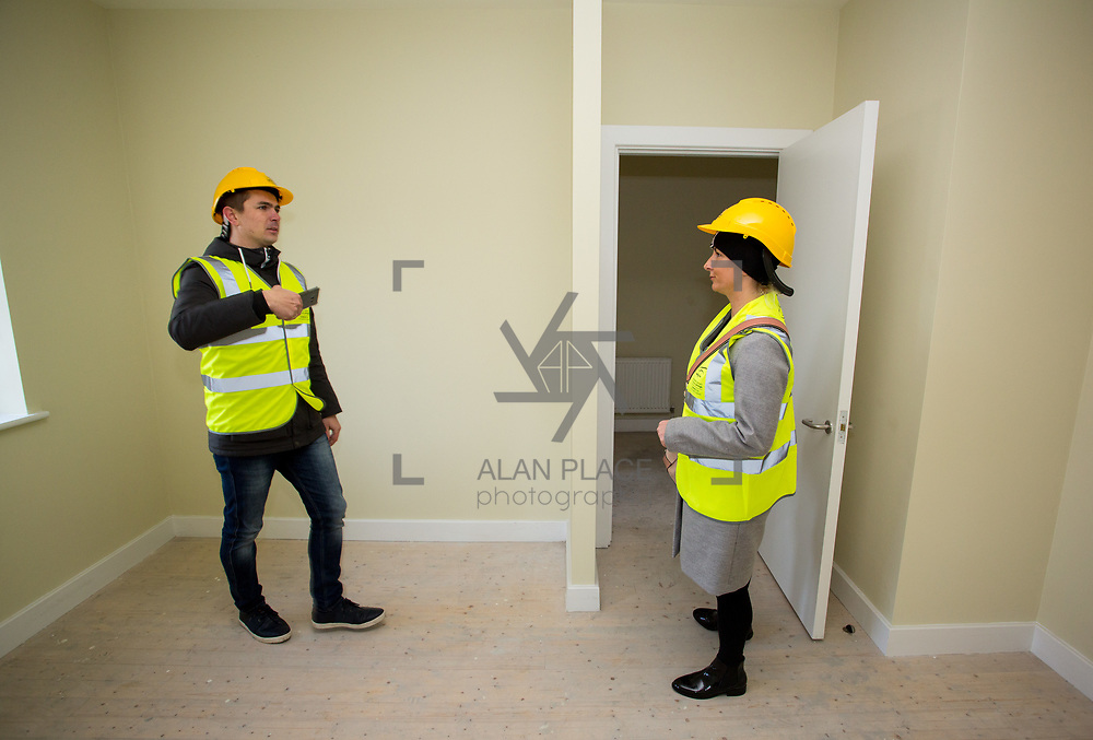 18.12.2017          <br /> Viewing their new home in the development site at the Lord Edward Street Social Housing Scheme were, Jolenta and Wojciech Picur. Picture: Alan Place