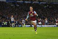 Football - 2019 / 2020 Premier League - Brighton & Hove Albion vs. Aston Villa<br /> <br /> Jack Grealish of Aston Villa celebrates scoring the equaliser at The Amex Stadium Brighton <br /> <br /> COLORSPORT/SHAUN BOGGUST