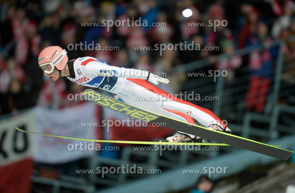 17.01.2015, Wielka Krokiew, Zakopane, POL, FIS Weltcup Ski Sprung, Zakopane, Herren, Teamspringen, im Bild Stefan Kraft // during mens Large Hill Team competition of FIS Ski Jumping world cup at the Wielka Krokiew in Zakopane, Poland on 2015/01/17. EXPA Pictures &copy; 2015, PhotoCredit: EXPA/ Newspix/ Irek Dorozanski<br /> <br /> *****ATTENTION - for AUT, SLO, CRO, SRB, BIH, MAZ, TUR, SUI, SWE only*****