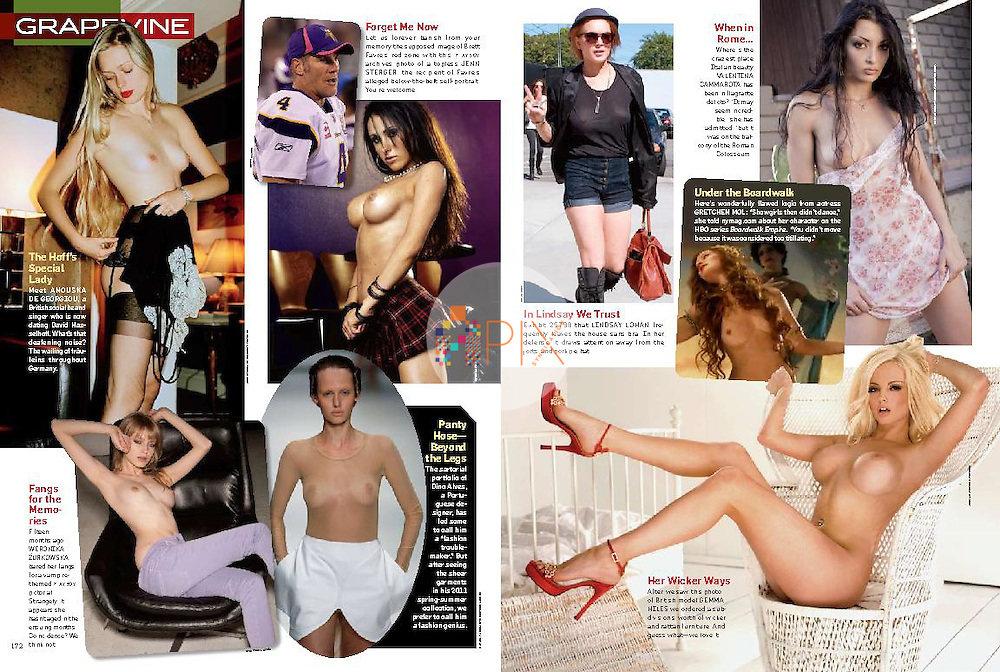 Polish Playboy model Wero is featured in the 'Grapevine' editorial spread in the January issue of PLAYBOY USA.<br />