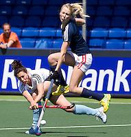 DEN HAAG - hockey- wedstrijd tussen de ZwarteTulpen en een Rabobank team. Dillianne van den Boogaardt COPYRIGHT KOEN SUYK
