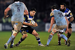 David Sisi of Bath Rugby in possession - Photo mandatory by-line: Patrick Khachfe/JMP - Mobile: 07966 386802 15/11/2014 - SPORT - RUGBY UNION - Bath - Recreation Ground - Bath Rugby v Newcastle Falcons - Aviva Premiership