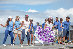 "Allegra Christopher of Mascilyn Bamboula Dance Company teaches students from Antilles school the Bamboula.  The Virgin Islands National Park Service presents the 26th Annual Folk-life Festival ""Celebrating Transfer Day from the Danish West Indies to the United States Virgin Islands""  Annaberg Sugar Plantation Ruins.  23 February 2017.  © Aisha-Zakiya Boyd"