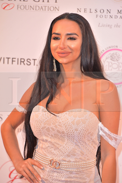 © Licensed to London News Pictures. 24/04/2018. London, UK. TASHIE JACKSON attends The Global Gift Foundation Nelson Mandela Centenary Dinner at Rosewood London. Photo credit: Ray Tang/LNP