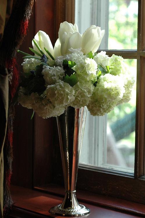 White Tulips, Viburnum