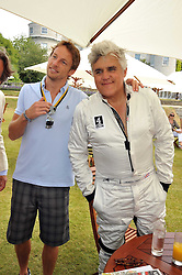 Left to right, JENSON BUTTON and JAY LENO at a luncheon hosted by Cartier for their sponsorship of the Style et Luxe part of the Goodwood Festival of Speed at Goodwood House, West Sussex on 5th July 2009.