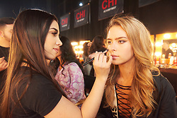 December 8, 2019, Atlanta, Georgia, USA: Lina Ljungberg, Miss Sweden 2019 gets makeup done by an OP Cosmetics artist backstage during The Miss Universe Competition telecast, held at Tyler Perry Studios. Contestants from around the globe have spent the last few weeks touring, filming, rehearsing and preparing to compete for the Miss Universe crown. (Credit Image: © Benjamin Askinas/Miss Universe Organization via ZUMA Wire)