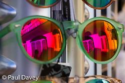 Sunglasses in Funchal, Madeira. MADEIRA, September 26 2018. © Paul Davey