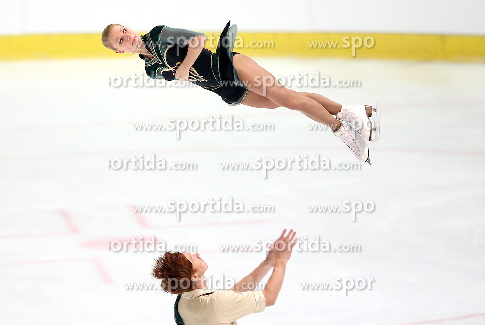 03.12.2015, Dom Sportova, Zagreb, CRO, ISU, Golden Spin of Zagreb, Kurzprogramm, Paare, im Bild Evgenia Tarasova - Vladimir Morozov, Russia // during the 48th Golden Spin of Zagreb 2015 Pairs Short Program of ISU at the Dom Sportova in Zagreb, Croatia on 2015/12/03. EXPA Pictures &copy; 2015, PhotoCredit: EXPA/ Pixsell/ Igor Kralj<br /> <br /> *****ATTENTION - for AUT, SLO, SUI, SWE, ITA, FRA only*****