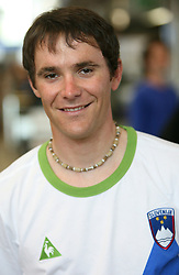 Rider Borut Bozic of Slovenian Olympic Team at departure to Beijing 2008 Olympic games, on July 31, 2008, at Airport Jozeta Pucnika, Brnik, Slovenia. (Photo by Vid Ponikvar / Sportal Images)/ Sportida)