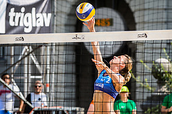 Ana Skarlovnik during FIVB  Beach Volleyball World Tour Ljubljana 2018, on August 5, 2018 in Kongresni trg, Ljubljana, Slovenia. Photo by Ziga Zupan / Sportida