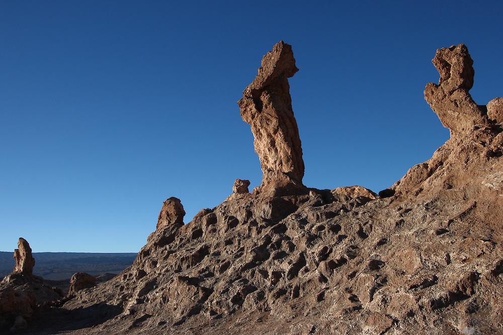 The Tres Marias (three Marys), in Valle de la Luna (the Valley of the Moon) in Chile's Atacama Desert