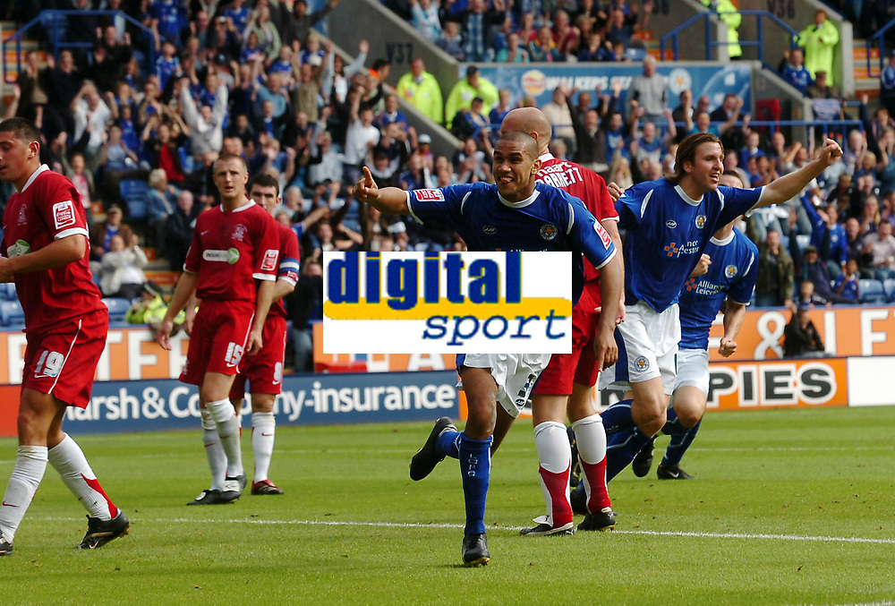 Photo: Kevin Poolman.<br />Leicester City v Southend United. Coca Cola Championship. 26/08/2006. Leicester's Patrick Kisnorbo celebrates his goal.