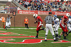 13 October 2007: Cortes Rice trots into the end zone for a touchdown. The Indiana State Sycamores were jacked 69-17 by the Illinois State Redbirds at Hancock Stadium on the campus of Illinois State University in Normal Illinois.