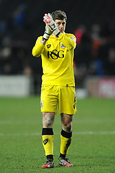 Bristol City Goalkeeper, Frank Fielding  - Photo mandatory by-line: Joe Meredith/JMP - Mobile: 07966 386802 - 07/02/2015 - SPORT - Football - Milton Keynes - Stadium MK - MK Dons v Bristol City - Sky Bet League One