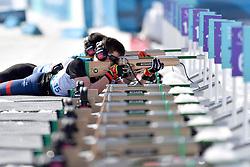 DUBOIS Thomas FRA B1 Guide: SAUVAGE Bastien competing in the ParaBiathlon, Para Biathlon at  the PyeongChang2018 Winter Paralympic Games, South Korea.