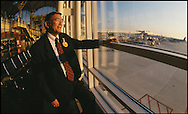 Secretary of Transportaion Norman Mineta at Reagan National Airport upon its reopening at 9/11.