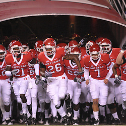 Nov 12, 2009; Piscataway, NJ, USA; Rutgers takes the field for first half NCAA Big East football action between Rutgers and South Florida at  Rutgers Stadium.