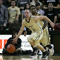 Central Florida guard A.J. Rompza (3) and Central Florida guard Marcus Jordan (5) during the first half of  a Conference USA NCAA basketball game between the Rice Owls and the Central Florida Knights at the UCF Arena on January 22, 2011 in Orlando, Florida. Rice won the game 57-50 and extended the Knights losing streak to 4 games.  (AP Photo/Alex Menendez)