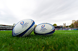 A general view of Heineken Champions Cup branded balls - Mandatory byline: Patrick Khachfe/JMP - 07966 386802 - 13/10/2018 - RUGBY UNION - The Recreation Ground - Bath, England - Bath Rugby v Toulouse - Heineken Champions Cup
