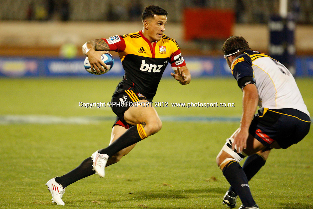 Sonny Bill Williams in action during their game at Baypark Stadium, Mt Maunganui, New Zealand. Friday,16 March 2012. Photo: Dion Mellow/photosport.co.nz