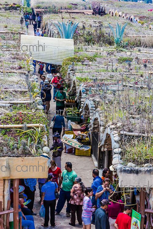 Los Santos , Colombia  - February 12, 2017 : Mercado Campesino de Acuarela at Los Santos Santander in Colombia South America