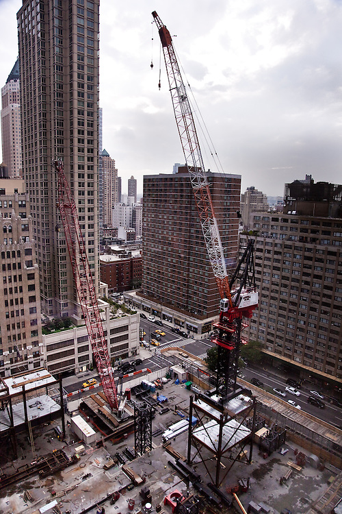 250 W 55th Street construction site, tower crane<br /> <br /> September 22nd, 2011
