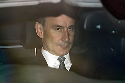 © Licensed to London News Pictures. 12/12/2018. London, UK. Health Secretary JEREMY HUNT is seen leaving Parliament in Westminster as Prime Minister Theresa May faces a vote of no confidence from her own party. Photo credit: Ben Cawthra/LNP