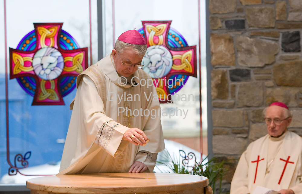 3/2/2008.Pictured at the Edmund Rice Chapel dedication at Mount Sion in Waterford by Bishop William Lee was the Bishop of Waterford and Lismore, William Lee..Picture Dylan Vaughan.