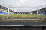 Boundary Park pitch before the Sky Bet League 1 match between Oldham Athletic and Bury at Boundary Park, Oldham, England on 23 January 2016. Photo by Mark Pollitt.