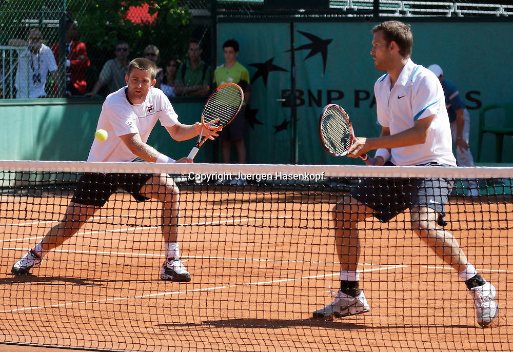 French Open 2009, Roland Garros, Paris, Frankreich,Sport, Tennis, ITF Grand Slam Tournament,  Doppel Herren, Michael Kohlmann/ Alexander Waske (GER)..Foto: Juergen Hasenkopf..