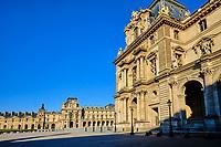 France, Paris (75), musée du Louvre durant le confinement du Covid 19 // France, Paris, Louvre museuml during the containment of Covid 19