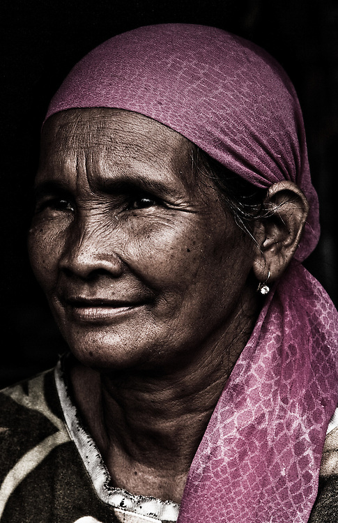 Where: Kalimantan, Indonesia. A local lady.