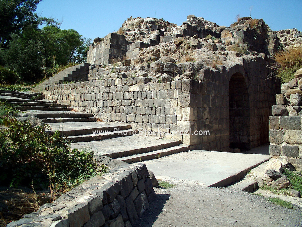 """Byzantine Agora at ruins of Bet She'an, Israel, Bet shean is located in the northn regions of Israel, Bet She'an was the site of an Egyptian administrative center during the XVIII and XIX dynasties. In Hellenistic times it was a Scythian city from circa 625 to 300 B.C., and the biblical city Beth-shean. In 64 BC it was taken by the Romans, rebuilt, and made the center of the Decapolis, the """"Ten Cities"""" of Samaria that were centers of Greco-Roman culture. The city contains the best preserved Roman theater of ancient Samaria.<br /> <br /> During the 6th century Byzantine period, Bet She'an housed a Christian monastery named the Monastery of Lady Mary which has a Zodiac mosaic that is still preserved today."""