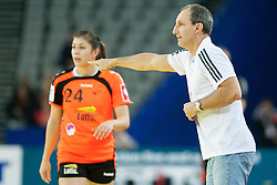 17-12-2014 CRO: EHF EK Nederland - Frankrijk, Zagreb<br /> Alain Portes, head caoch of France during handball match between Netherlands and France at 11th EHF European Women's Handball Championship Hungary-Croatia 2014<br /> <br /> *** USE NETHERLANDS ONLY ***