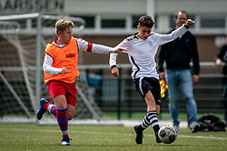 Roan #7 of VV Maarssen scores 4-0. VV Maarssen O14-1 played a friendly game against CDW O15-2. Maarssen won 9-2 on July 11, 2020 at Daalseweide sports park Maarssen.