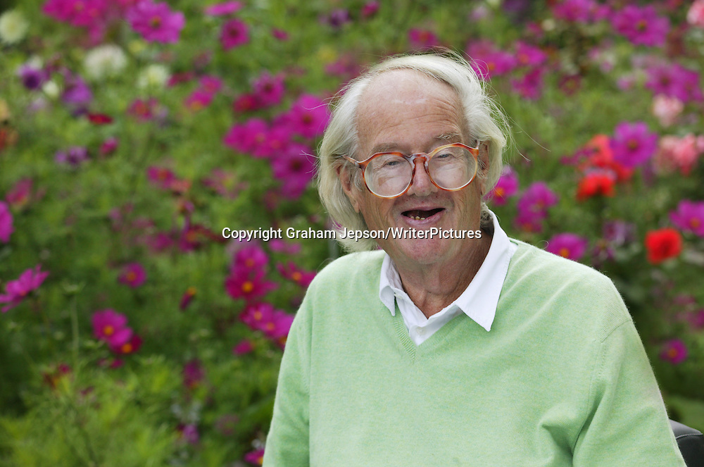 Sir John Mortimer, pictured at his home near Henley-on-Thames
