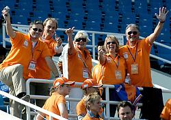 21-10-2007 ATLETIEK: ANA BEIJING MARATHON: BEIJING CHINA<br /> De Beijing Olympic Marathon Experience georganiseerd door NOC NSF en ATP is een groot succes geworden / Vele Oranje supporters langs de marathon en in het Olympic Sports Center Stadium - Nashuatec<br /> ©2007-WWW.FOTOHOOGENDOORN.NL